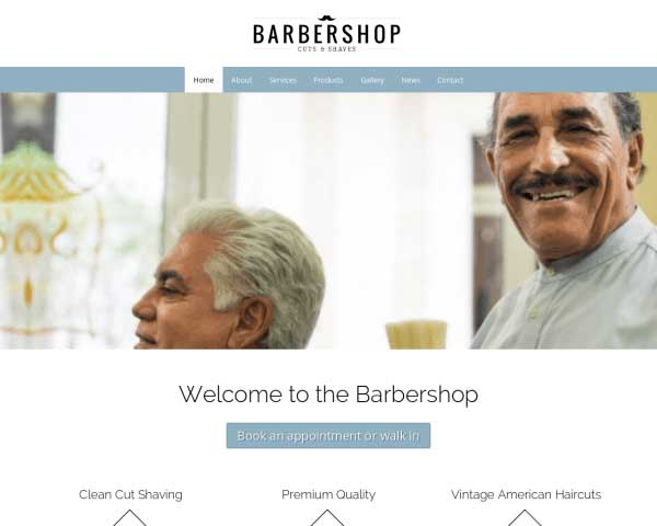 Barber Shop WordPress Theme thumbnail