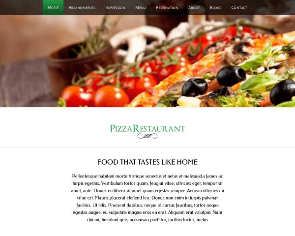 Pizza WordPress Theme thumbnail
