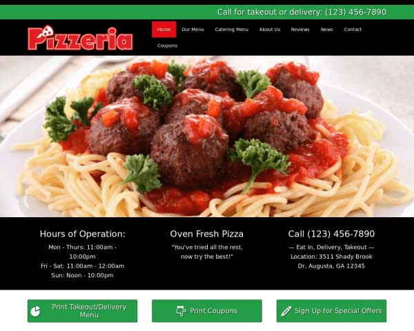 Pizzeria WordPress Theme thumbnail