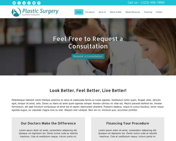 Plastic Surgery WordPress Theme thumbnail