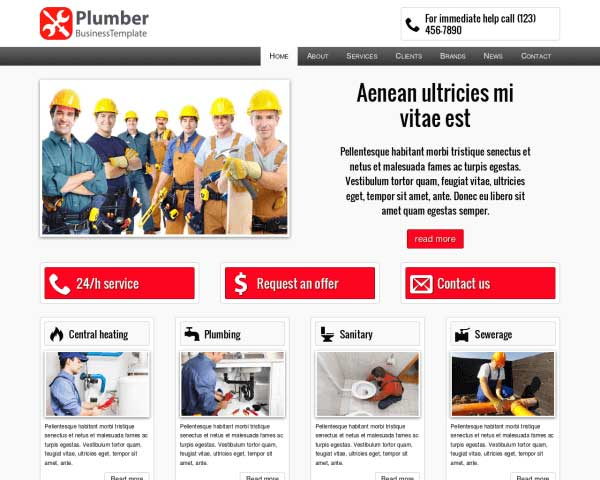 Plumber WordPress Theme thumbnail