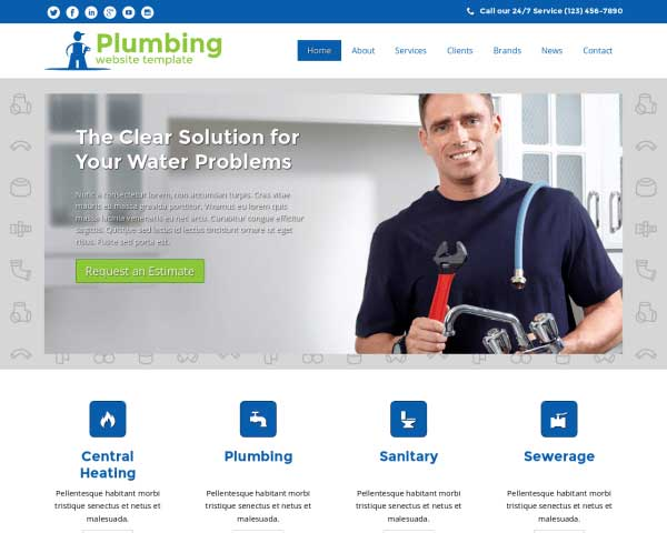 Plumbing WordPress Theme thumbnail