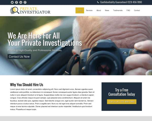 Private Investigator WordPress Theme thumbnail