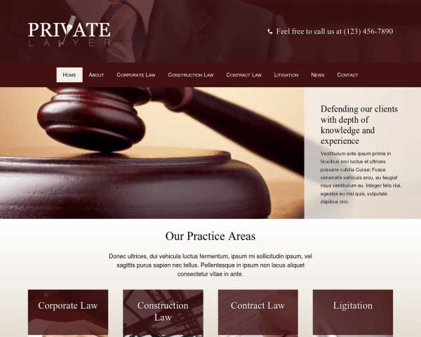 Private Lawyer WordPress Theme thumbnail