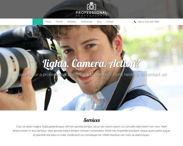 Professionele Fotograaf WordPress Theme thumbnail