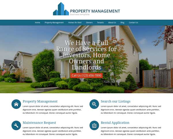 Property Management WordPress Theme thumbnail