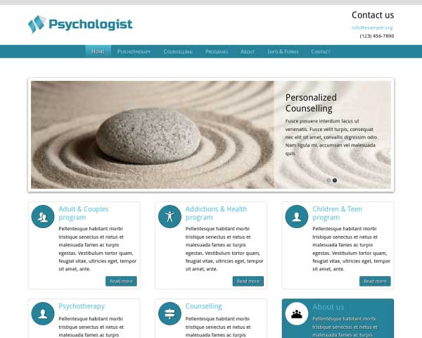 Psychologie WordPress Theme thumbnail