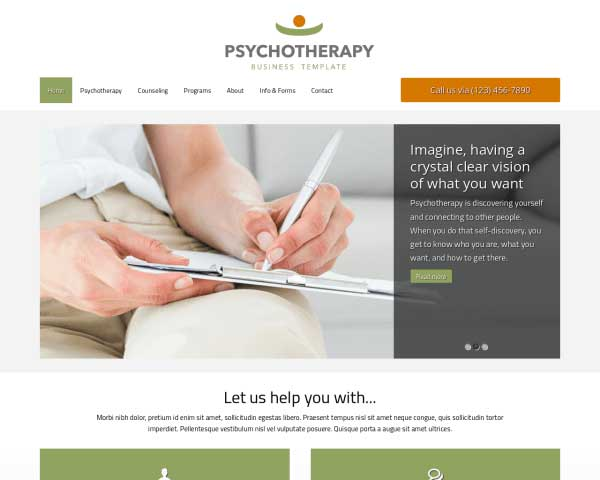 Psychoterapie WordPress Theme thumbnail