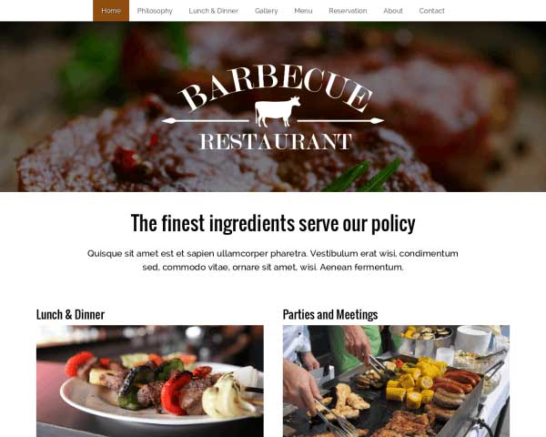 Bbq Restaurant WordPress Theme thumbnail