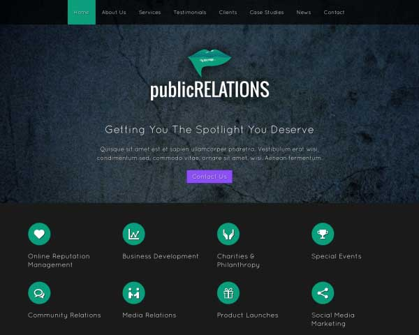 Public Relations WordPress Theme thumbnail
