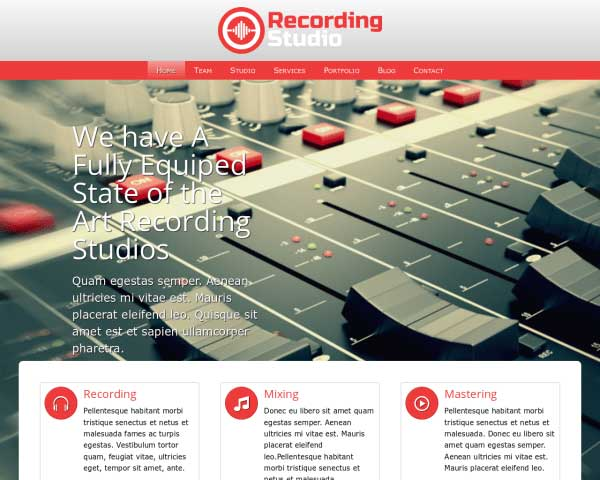 Recording Studio WordPress Theme thumbnail