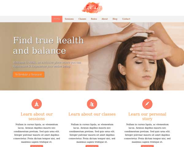 Reiki WordPress Theme thumbnail