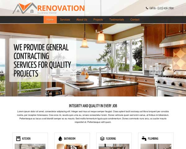 Renovatie WordPress Theme thumbnail