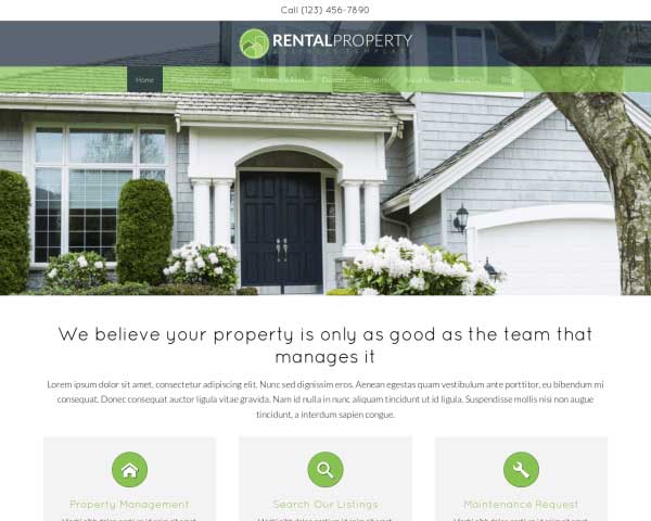 Rental Property WordPress Theme thumbnail