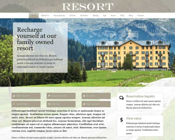 Resort WordPress Theme thumbnail