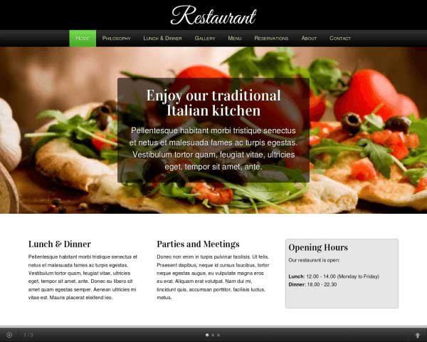 Restaurant WordPress Theme thumbnail