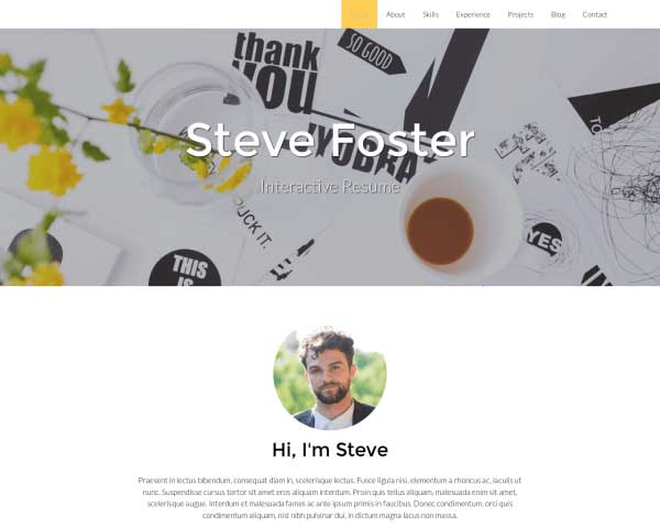 Resume WordPress Theme thumbnail