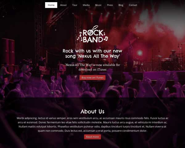 Rock Band WordPress Theme thumbnail