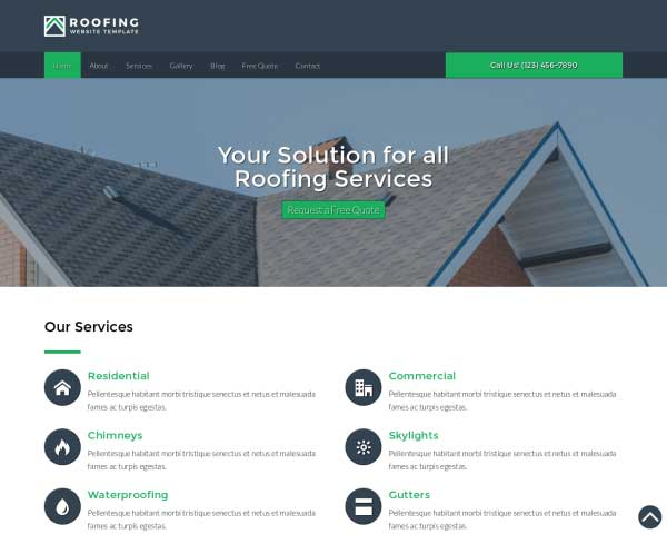 Roofing WordPress Theme thumbnail