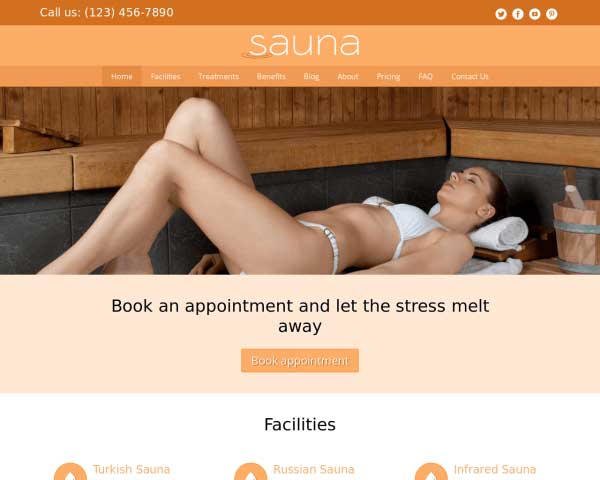 Sauna WordPress Theme thumbnail