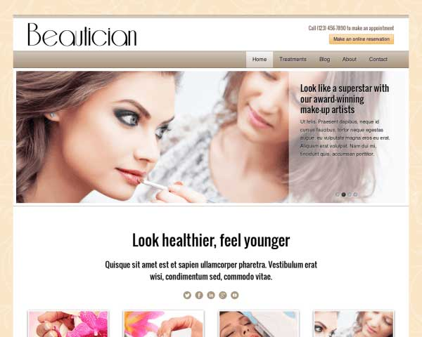 Beautician WordPress Theme thumbnail