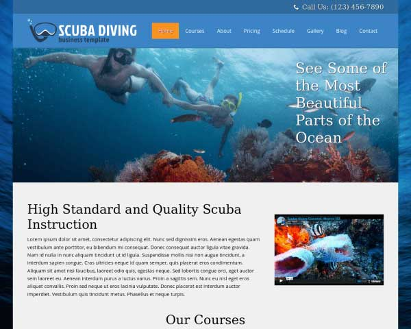 Scuba Diving WordPress Theme thumbnail