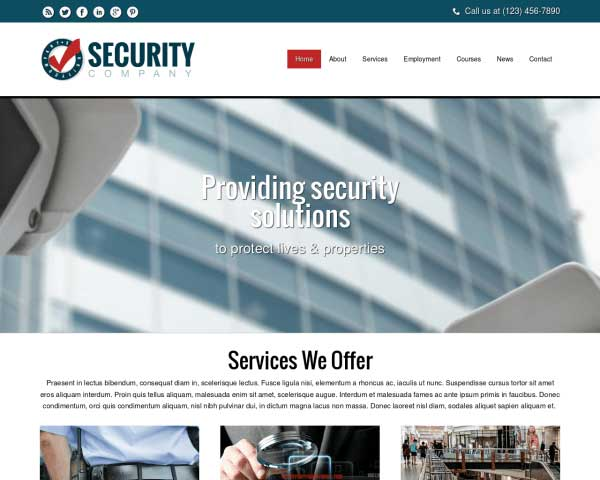 Security Company WordPress Theme thumbnail