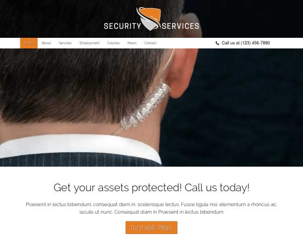 Security Services WordPress Theme thumbnail