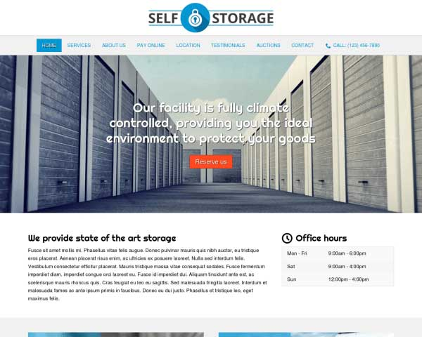 Self Storage WordPress Theme thumbnail