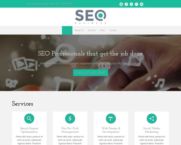 SEO Business WordPress Theme thumbnail