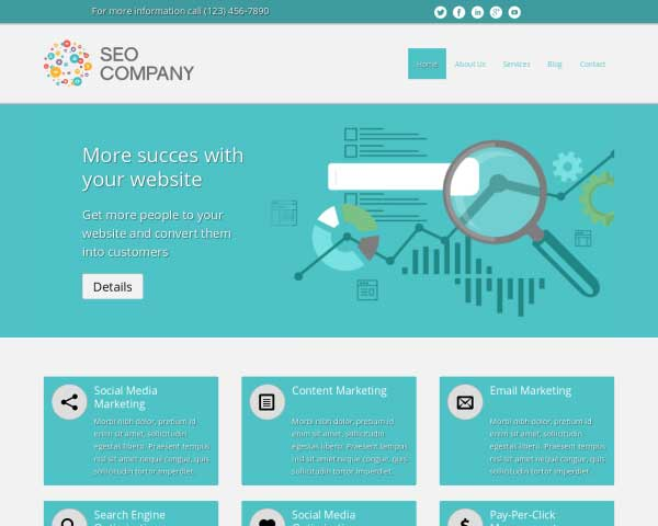 SEO Company WordPress Theme thumbnail