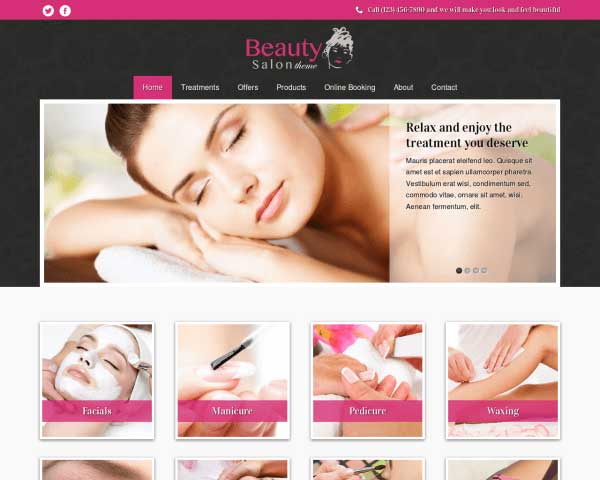 Beauty Salon WordPress Theme thumbnail
