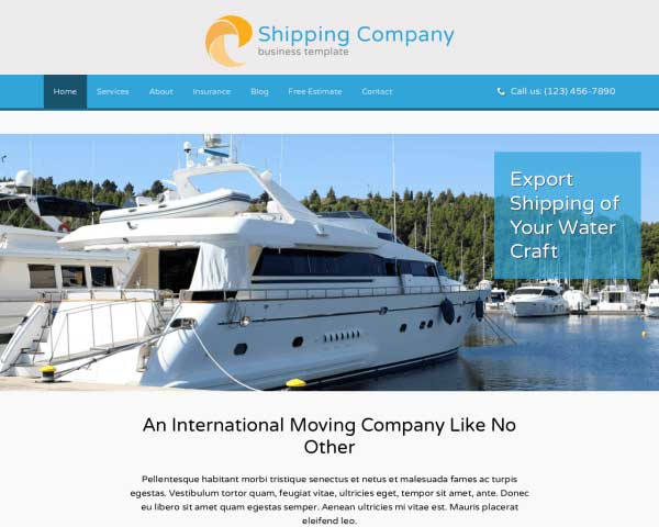 Shipping Company WordPress Theme thumbnail