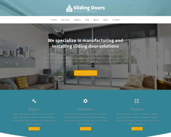 Sliding Door WordPress Theme thumbnail