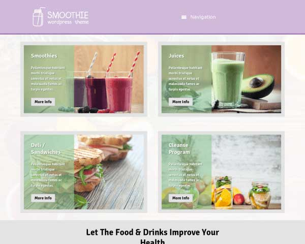 Smoothie WordPress Theme thumbnail