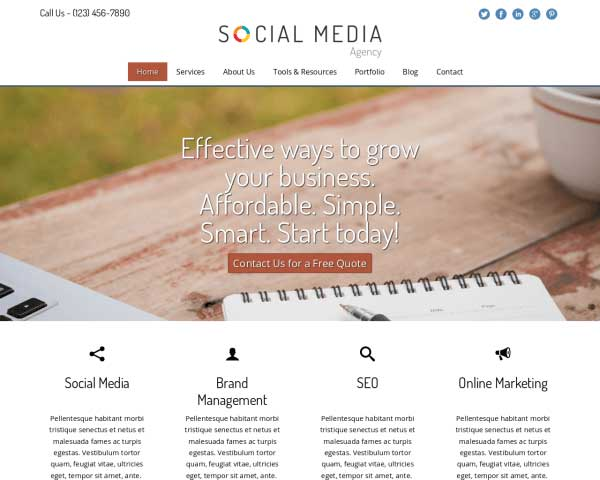 Social Media Bureau WordPress Theme thumbnail