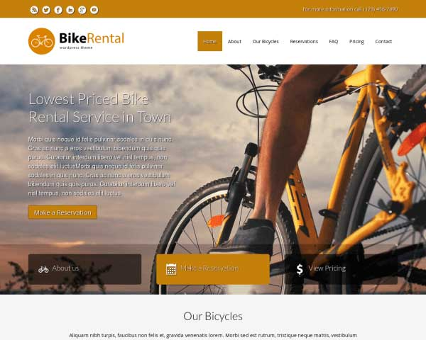 Bike Rental WordPress Theme thumbnail