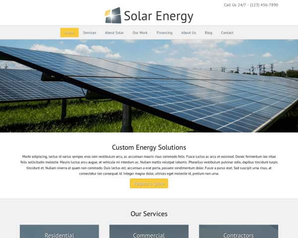 Zonne-energie WordPress Theme thumbnail
