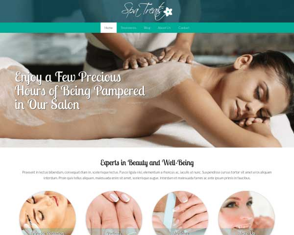 Spa Treats WordPress Theme thumbnail