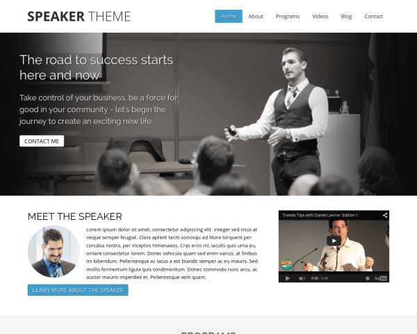 Speaker WordPress Theme thumbnail