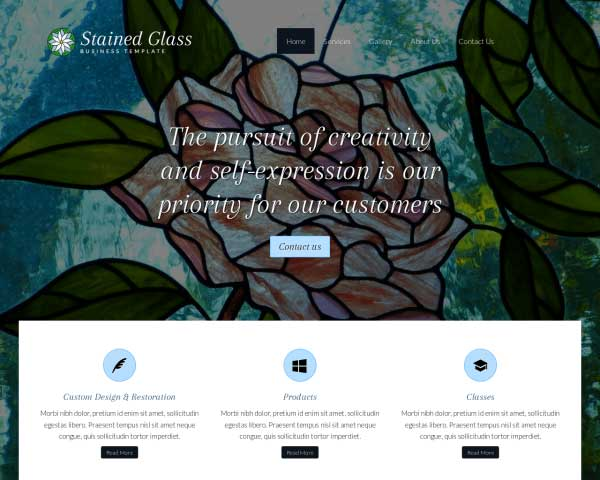 Stained Glass WordPress Theme thumbnail