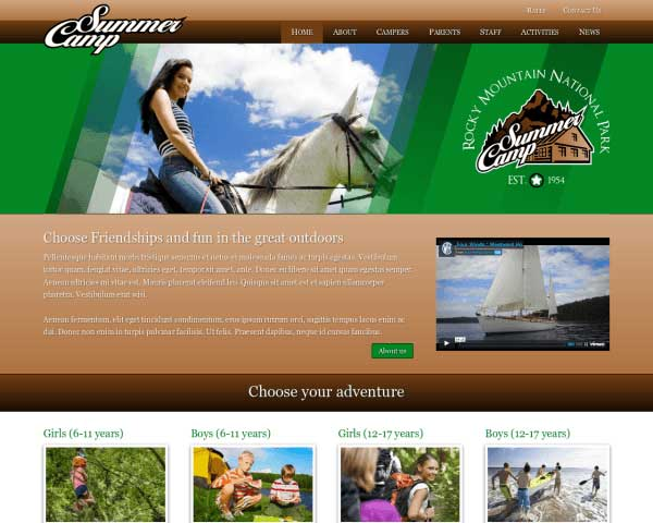 Summer Camp WordPress Theme thumbnail