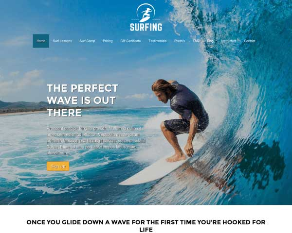 Surfing WordPress Theme thumbnail