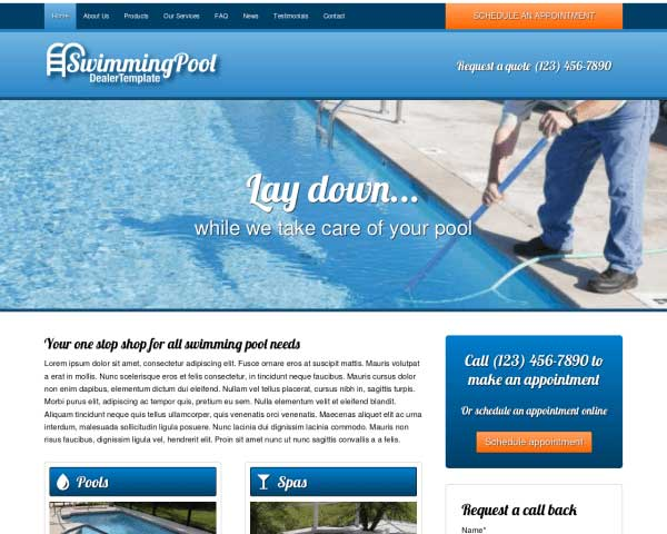 Swimming Pool WordPress Theme thumbnail