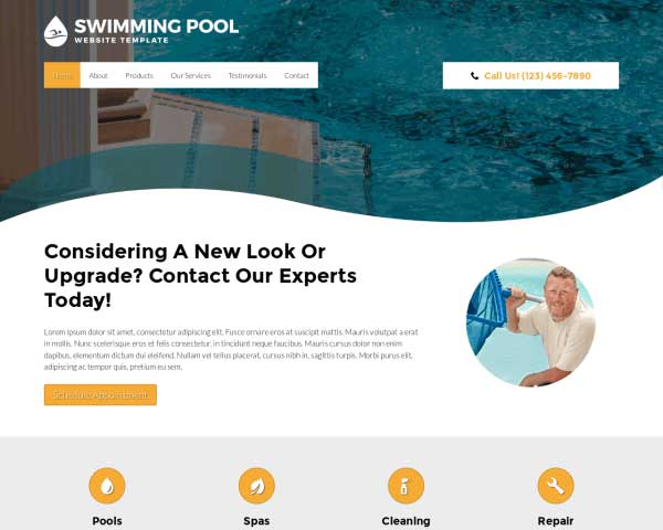 Pool Cleaning WordPress Theme thumbnail