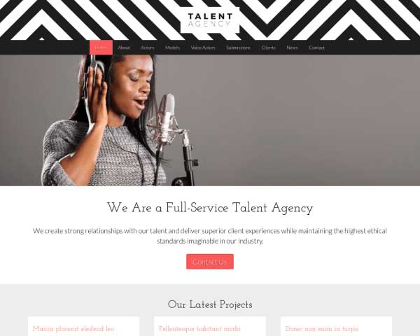 Talent Agency WordPress Theme thumbnail