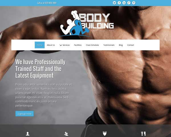 Bodybuilding WordPress Theme thumbnail