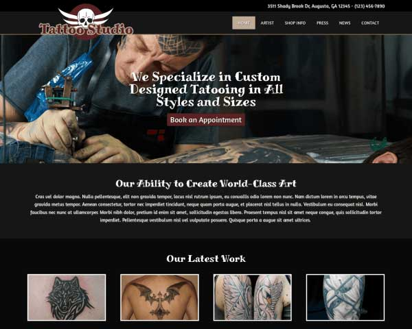 Tattoo Studio WordPress Theme thumbnail