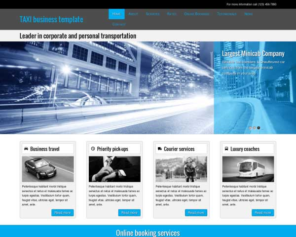Taxi WordPress Theme thumbnail