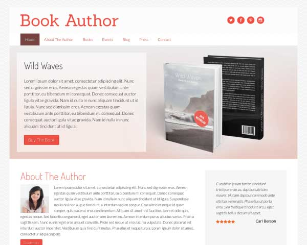 Book Author WordPress Theme thumbnail